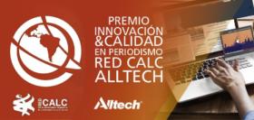 """Ezequiel Tambornini recibió el premio """"Innovación y Calidad en Periodismo Red CALC Alltech"""" a una de las dos mejores producciones publicadas en 2017"""