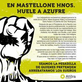 """Gremialistas de Atilra lanzan amenaza contra el gobierno: """"Seamos la pesadilla de quienes pretenden arrebatarnos los sueños"""""""