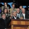 Basso intentó defender la política agropecuaria K en el acto del centenario del Grito de Alcorta: fue abucheado