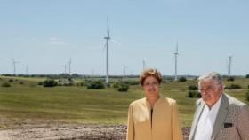 Mujica se despidió de la presidencia con un gesto simbólico: inauguró un parque eólico junto a Dilma Rousseff