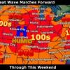 Dios escuchó a los argentinos: la ola de calor extremo se extendió a toda la zona maicera estadounidense