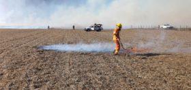 Agro en alerta: en el último mes se registraron cuatro incendios en campos productivos de la zona cordobesa de Oliva