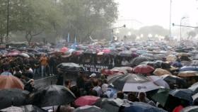 """Dirigentes de SRA y CRA participan de la multitudinaria """"marcha del silencio"""" en homenaje al fiscal Alberto Nisman"""
